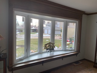 Bow Window installation Elgin Illinois