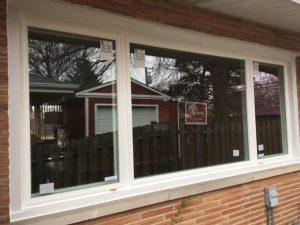 Newly installed hawthorn windows