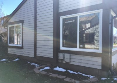 exterior shot of new windows
