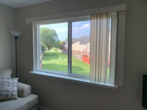 interior view of new windows with white finish